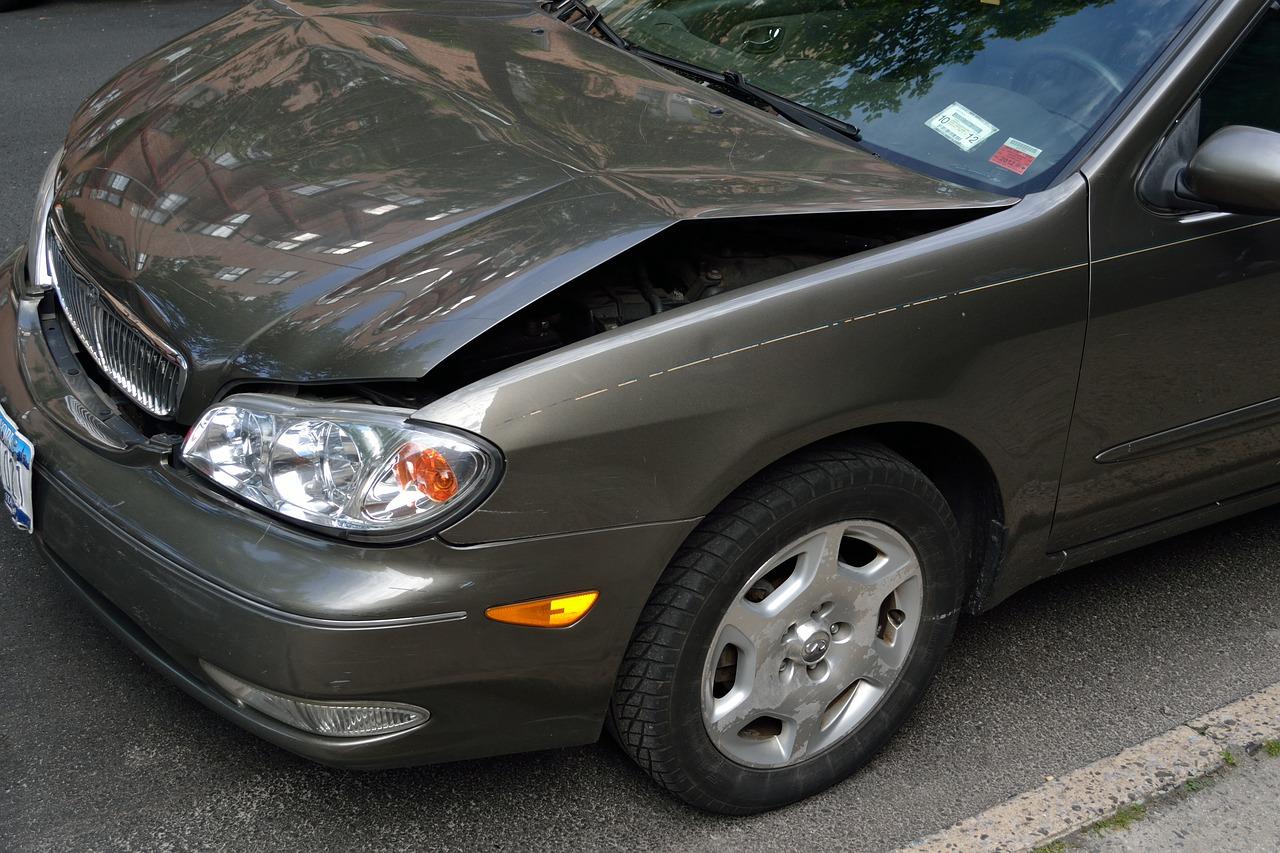 Car with monir front impact damage