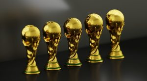 Row of golden colored Awards