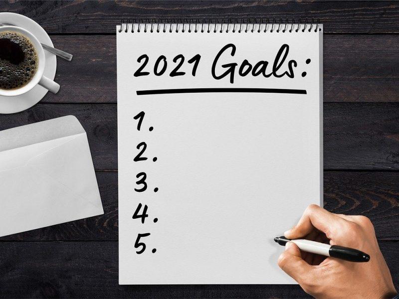 2021Goals notepad